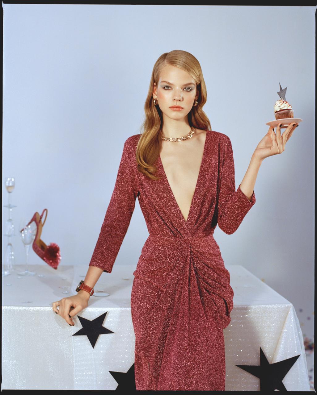 Платье A LA RUSSE в съемке для журнала GLAMOUR